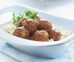 mediterranean meatballs with cous cous