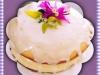 Lemon cake wth cheesecake frosting