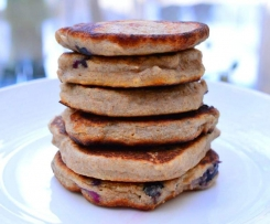 Blueberry & Banana Pancakes {Dairy Free}