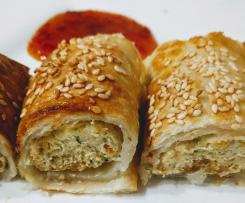 Chicken vegetable sausage rolls