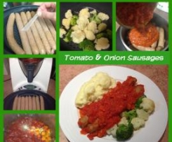 Tomato and Onion Sausages