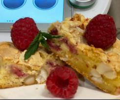 White Choc, Macadamia & Rasberry Blondies