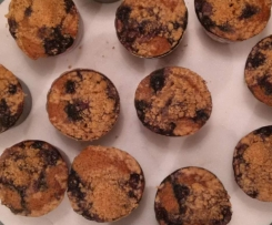 Super Moist Pear & Blueberry Muffins