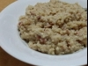 Chicken and bacon risotto with Parmesan cheese