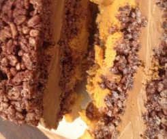 Chocolate Crackle and Caramel Ice cream Loaf (AWW TM conversion)