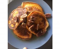 Sweet potato and vanilla bean pancakes