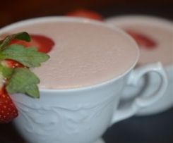 Strawberry and Coconut Panna Cotta