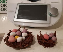 Easter chocolate egg nests