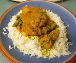 Silverbeet and Lamb Rogan Josh