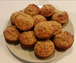 Apple bran Oatmeal Muffins