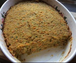 Low FODMAP Zucchini Slice (NO eggs, gluten or dairy, with a vegan option)
