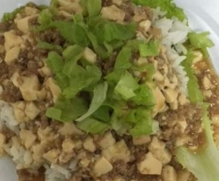 Bean Curd Mince Pork Rice
