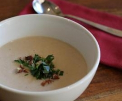 Celeriac and Pecan Soup