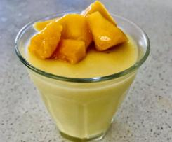 Mango and Coconut pudding (low sugar)