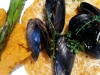 Leek & Tomato Risotto with Mussels