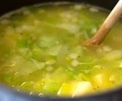 Variation Potato and leek soup
