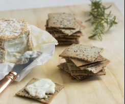 Rosemary and sea salt crackers