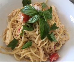 Crab Linguine for Two