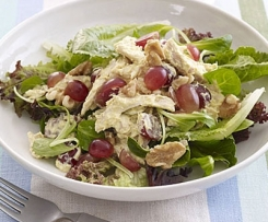 BBQ Chicken and quinoa salad with grapes and almonds