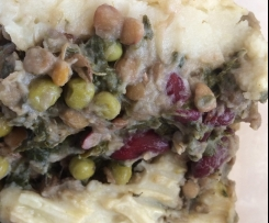 Vegan Lentil Kidney Bean Shepherd's Pie
