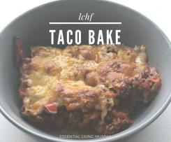 LCHF Hidden Veggie Mexican Taco Bake