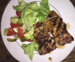 Chicken thighs with Balsamic Reduction