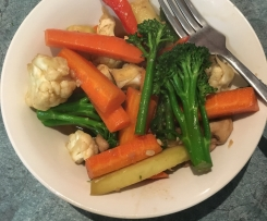 Chinese Stir Fried Vegetables in sauce