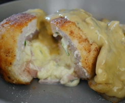 Bacon & Chive Cream Cheese Stuffed Chicken with Mushroom Sauce Taela-Made