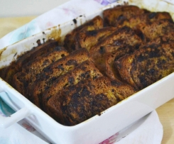 Chocolate Bread and Butter Pudding Taela-Made