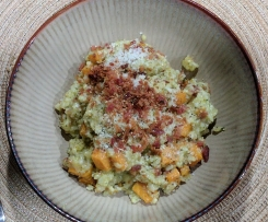 Bacon, Sweet Potato, and Parmesan Risotto