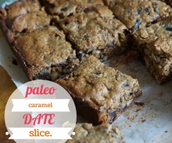 Paleo Caramel Date Slice