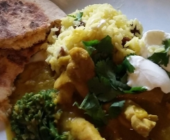 Chicken & Lentil Dhal with Instant Naan Bread