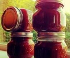 Rhubarb and apple jam