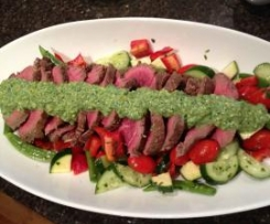 Beef Fillet, Pistachio Mayonnaise, Crisp Summer Salad