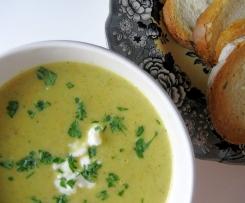 Zucchini and basil soup
