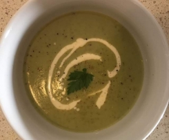Broccoli Cream Soup for Two