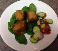 Arancini Balls served with simple salad