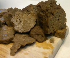 Glazed Lentil Walnut Apple Loaf Vegan