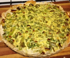 Asparagus, Pea and Leek Tart