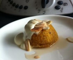 Carrot,Almond and Amaretto Puddings