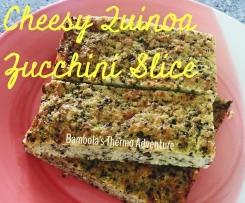 Cheesy Quinoa Zucchini Slice