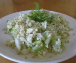 Sprouted Buckwheat and Fennel Salad
