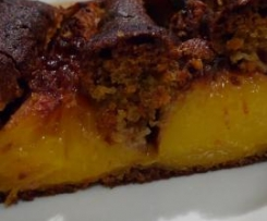Gluten Free Polish Plum (or peach) cake