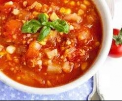 Spiced Mexican Tomato & Corn Soup