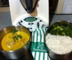 Mango Chicken with Rice and Vegetables