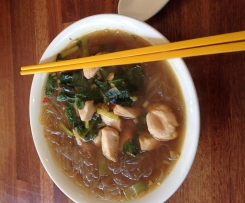 What's Left in the Kitchen Spicy Noodle Soup