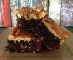 Marbled Orange Cream & Brazil Nut Brownies