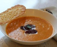 Roasted Capsicum Soup with Chorizo