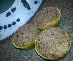 Apple Nut Cinnamon Muffins with Brown Sugar Cinnamon Topping