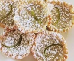 vegan lime tarts